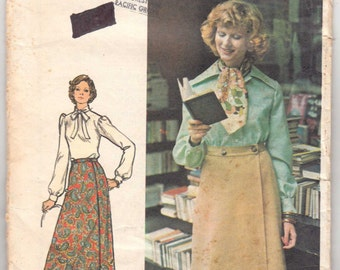 1970's Vintage Sewing Pattern Ladies' Seams Slimmer Skirt Butterick 3884 28 Waist- Free Pattern Grading E-book Included