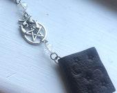The Hunter's Journal Necklace Supernatural SPN Leather