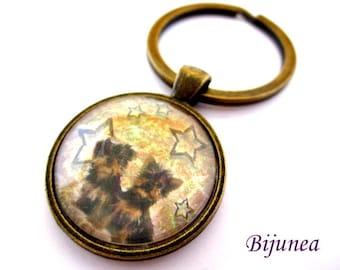 Yorkshire dog keychain - Dog pet keychain - Animal dog pet keychain - Pet Yorkshire dog keychain  k112