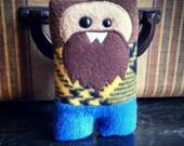 Lumberjack Nubbin - Brown Beard - Made To Order