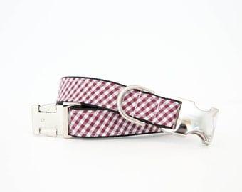 Gamecocks Dog Collar in Garnet