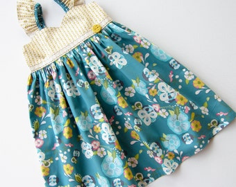 SALE Size 3T Floral Floats Twirl Dress Ready To Ship Handcrafted by Valeriya