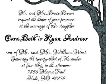 Trees Wedding Invitations  - several samples shown