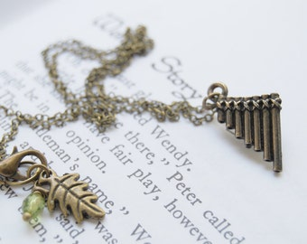 Peter Pan Flute Pipes Necklace