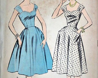 Misses' Sundress, Advance 8655 Vintage 50's Sewing Pattern, Size 14, Bust 34