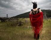 Memento Prairi© Jackalope Skull Embroidered Eyelet Dress