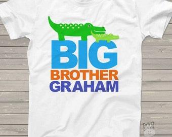 Big brother alligator shirt - fun pregnancy announcement Tshirt MALL1-004