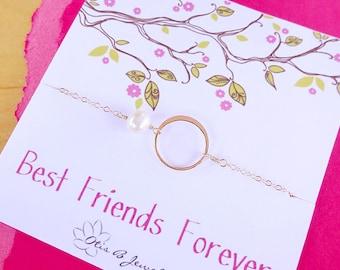 Be my Bridesmaid cards with silver KARMA BRACELET, pearl bracelet, Bridesmaid gifts, eternity, friendship bracelet