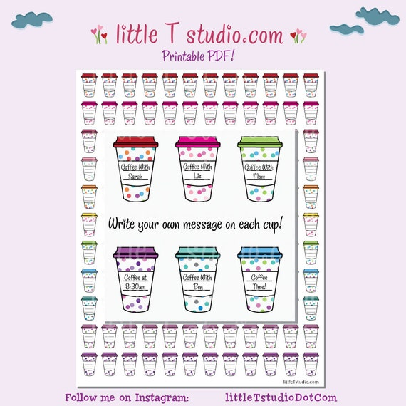 ... Stickers - Write Your Own Reminder! PDF Printable Planner Stickers