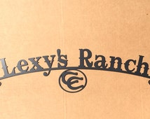 Metal Art Custom Metal Ranch Sign (E19)