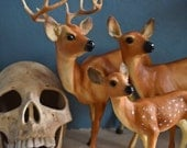 Vintage Deer Family Figurine Set Breyer Wildlife Series
