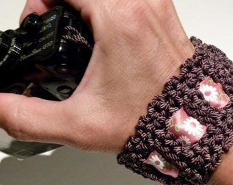 Camera Hand Strap (Crochet Pattern) Made with Durable Nylon good for DSLR Nikon, Canon, Any Point & Shoot