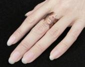 Druid's Treasure - Copper Oak Leaf Ring, Adjustable Ring, Autumn Leaves, Boho Jewelry, Oak Leaf Jewelry, Bohemian Jewelry, Leaf Band Ring