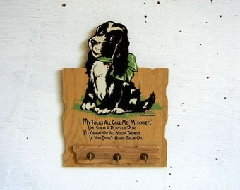 Vintage Dog Wall Hooks | Puppy Dog Brass Hooks | Leash  Key Holder | Made in Canada