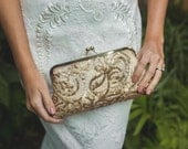 Metallic Antique Gold Sequins Clutch for Bride, Bridesmaid, Mothers | Great Gatsby 1920s purse