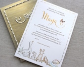 PATRICIA — Foil embellished Birth Announcements / Baptism Invitations