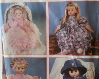Doll Cloths Pattern for a 12 inch to 22 inch doll cloths,Simplicity 9286 Design you own Doll Cloths