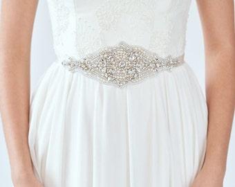 Crystal Wedding Belt   Wedding Dress Sash   Bridal Belts   Bridal Sash [Cosmos Sash]