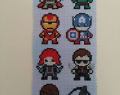 Little Avengers *7 character* superhero inspired cross stitch pattern