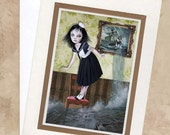 Greeting Card - Sailor Girl & Sea - Stranded