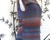 Maxi Dress Hand Knit Shapely Striped