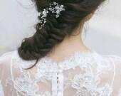 Wedding Hair Pins, Bridal Hair Pins, Wedding Hair Accessories,  Pearl hair  Pins, Petite Floral Bridal Pins