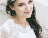Wedding Headpiece , Bridal Hair Piece , Wedding Floral Hair Accessories , Bridal Halo, Circlet Bridal Headpiece, Boemian  Hair Accessory