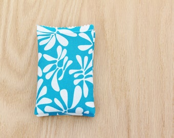 Modern Lavender Sachets, Scented Drawer Sachets, Blue and White Leaves