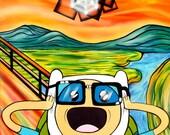 4th Dimensional Bubble - Adventure Time Surreal Pop Art by Mizu