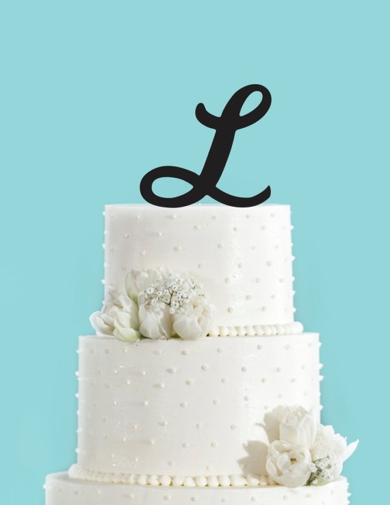 Monogram Personalized Letter L Custom Cake Topper Unique