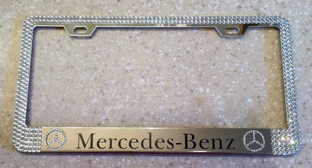 mercedes benz license plate frame made with by rvmdesigns
