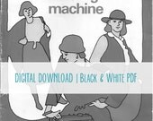 PDF Download // Vintage Royal Electra XL 6000 Sewing Machine Instruction Manual // Black and White