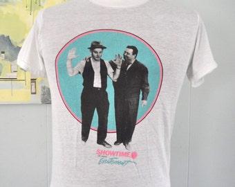 Burnout Vintage Tshirt TV Honeymooners Lost Episodes Showtime 80s Super Soft and Thin MEDIUM