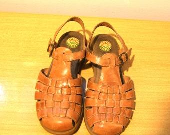 Fisherman Sandal // Leather // Womens 8 // FREE Shipping