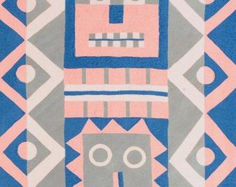 Wari Face Greetings Card