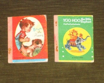 2 Mini John Martins House Little Books 40s 3x4 Yoo Hoo and Bounce
