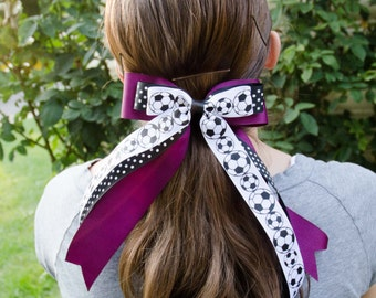 Hair Bows - Customized Soccer Hair Bows