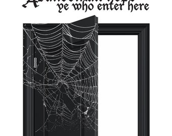 Halloween WALL DECAL Vinyl Decor - Abandon All Hope - Spooky Sign