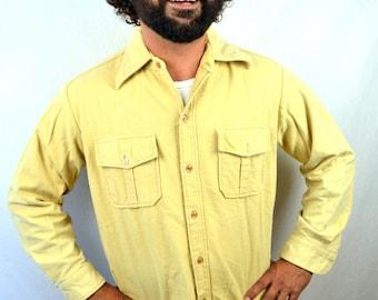 Vintage Eddie Bauer Men's Cotton Plaid Flannel Button Up Shirt