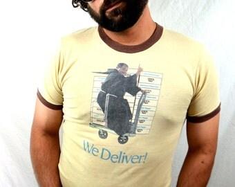 SUPER RAD Vintage 70s 80s Xerox Tshirt Ringer Tee Shirt