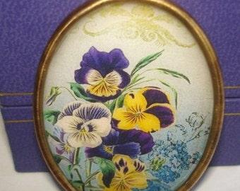 Pansy Flower Brooch