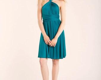 SALE 20% OFF Teal bridesmaid dress, turquoise short party dress, short teal dress, turquoise bridesmaids, teal bridesmaid dresses, infinity