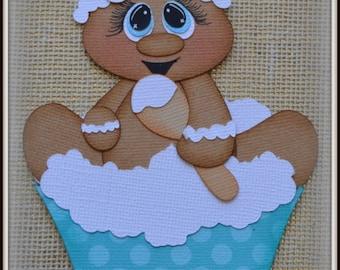 Gingerbread Cupcake Christmas Premade Scrapbooking Embellishment Paper Piecing