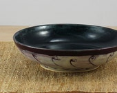 Pasta bowl - cereal bowl - soup bowl - salad bowl - ceramic bowl - ice cream bowl - teal - white - purple