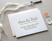 Letterpress Save the Date-Calligraphy,Traditional, Elegant, Simple, Classic, Custom, Formal, Destination
