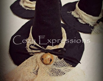 Witch Hat | Primitive Witch Hat | Witch Hat Bowl Fillers | Conical Hat | Halloween Decor