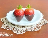 Chocolate Dipped Strawberries (Stud Earrings)