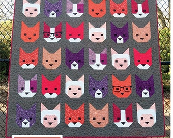 The Kittens Quilt Pattern by Elizabeth Hartman of Oh Fransson PAPER PATTERN