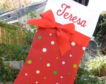 Personalized Christmas stocking//Personalized handmade Christmas stocking