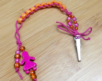 Little Lady - PINK and ORANGE  - Golf Stroke Counting Beads - MINI by TallyGators™